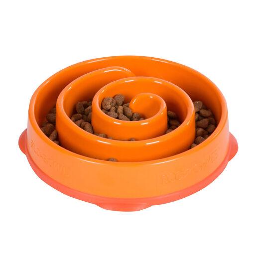 Outward Hound Fun Feeder Dog Bowl Small Orange
