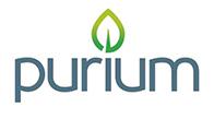 Purium Logo with Leaf